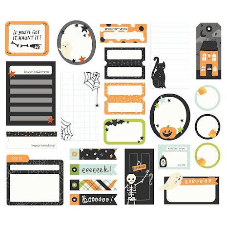 Simple Stories Bits & Pieces Die-Cuts 48/Pkg - Spooky Nights Journal