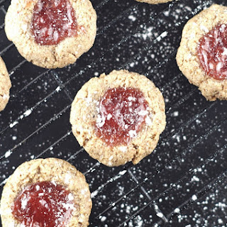 Grain-Free Strawberry Thumbprint Cookies (5 Ingredients)