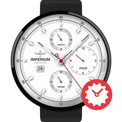 Silver Knight watchface by Imperium