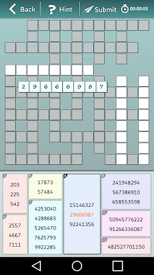Astraware Number Cross - screenshot