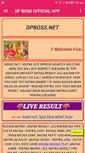Dpboss Satta Matka Result Kalyan Official App Apps En Google Play