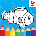 Animals coloring pages : Drawing games for kids icon