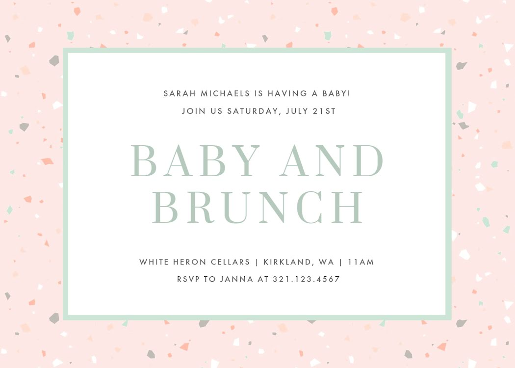Baby & Brunch - Baby Card Template