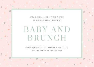 Baby & Brunch - Baby Shower Invitation Template