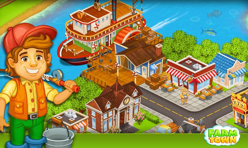Screenshots of Farm Town:Happy City Day Story for iPhone