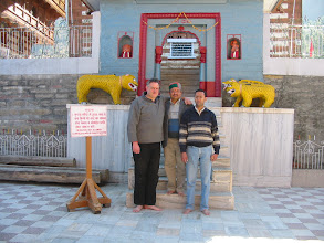 Photo: Francy Hermans, local Forestry Divisional Forestry Officer and Dr. Sushil Sood at the Bhimakali Temple, Sarahan