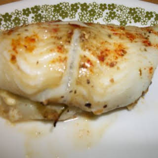 Flounder Filet Stuffed with Spinach and Feta.