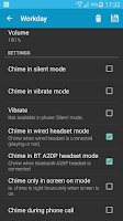 Screenshot of Hourly chime