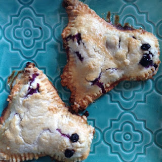 Blueberry Cream Cheese Ghost Hand Pies.