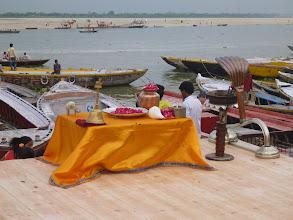 Photo: Stoleček připravený na večerní rituál.