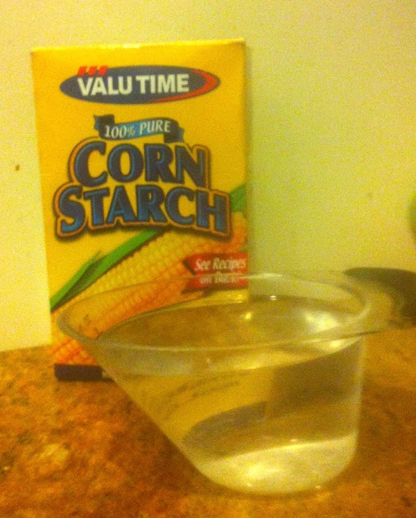 Dissolve corn starch in 1/2 cup hot water. Bring juices to a boil in...