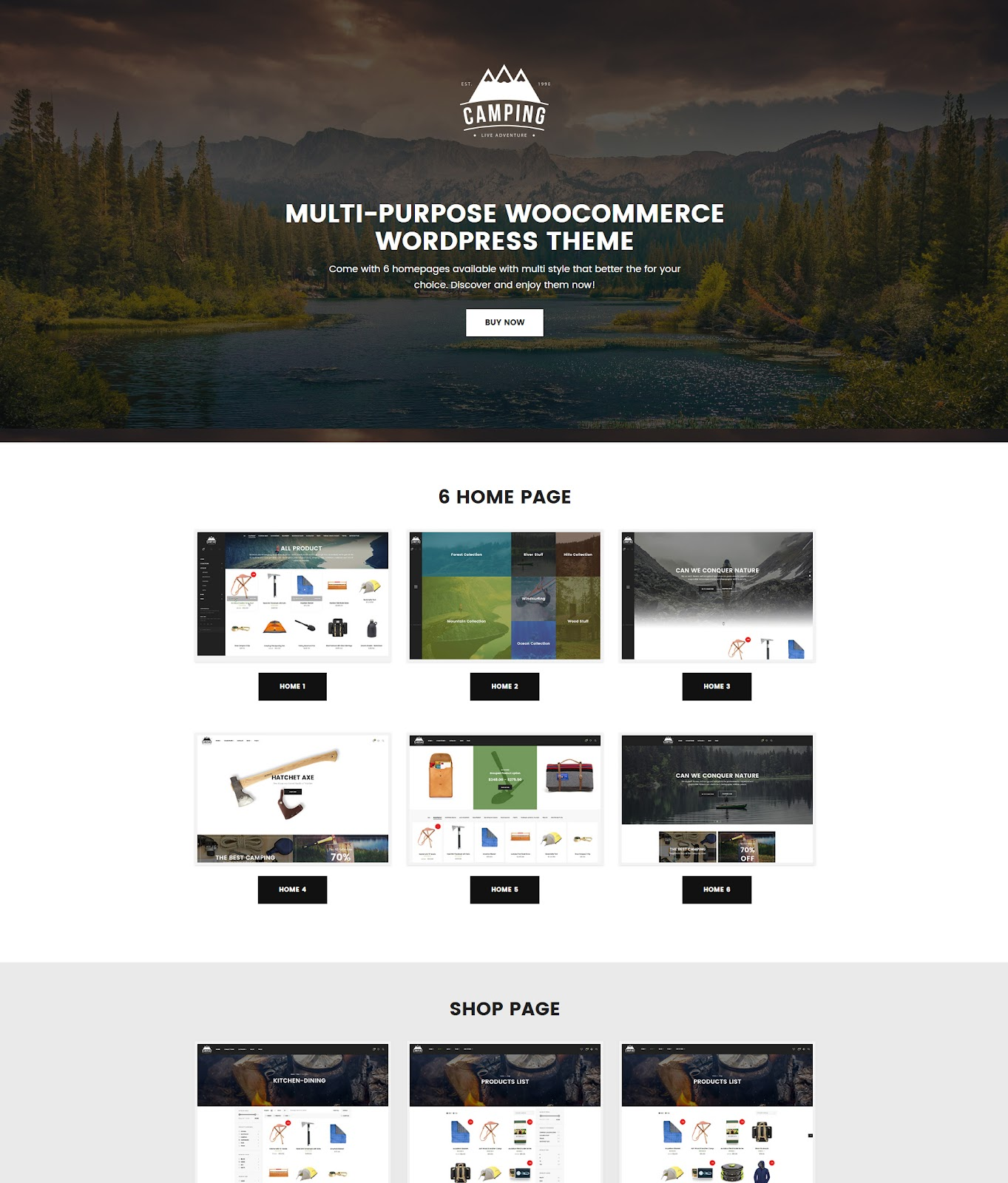 Camping Site Theme