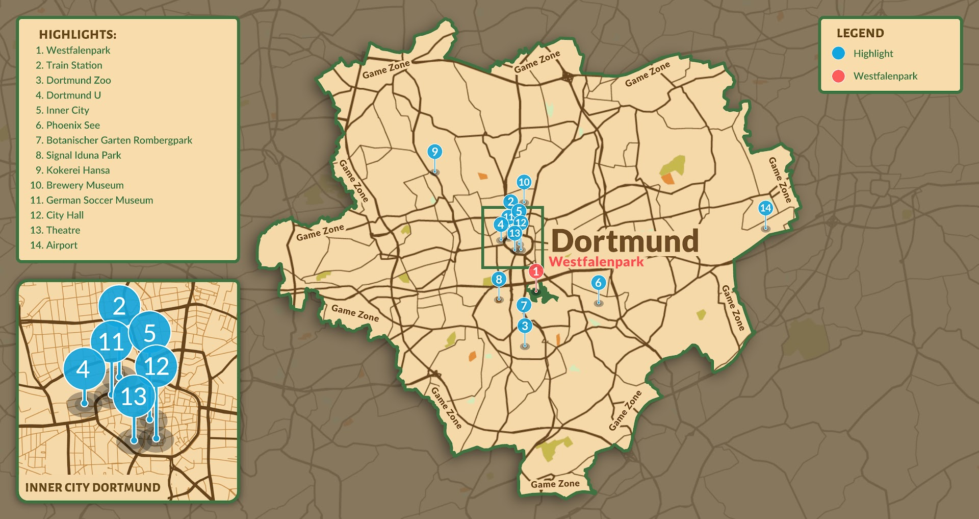 Dortmund Safari Map