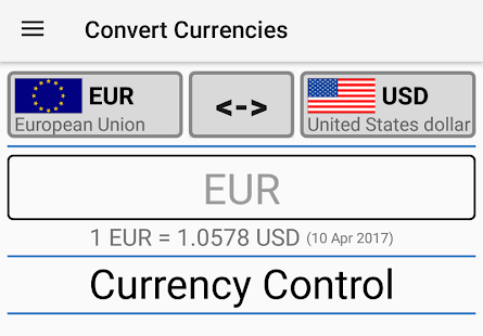 Currency Control-THE Converter- screenshot thumbnail