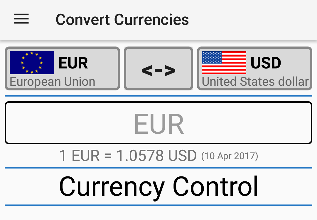 Currency Control-THE Converter- screenshot