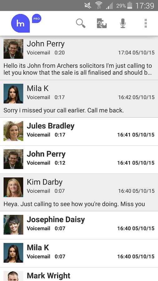 HulloMail Free Smart Voicemail- screenshot