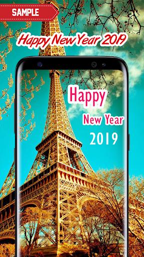 New Year 2019 Wallpaper (Eiffel) 2.0 screenshots 6