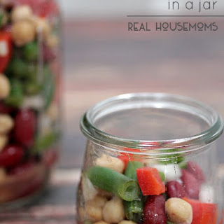 Easy Three Bean Salad in a Jar