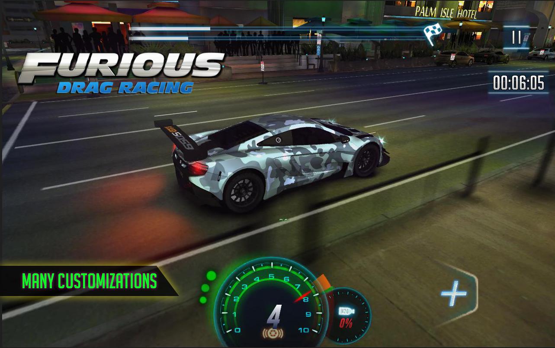 Furious 8 drag racing screenshot
