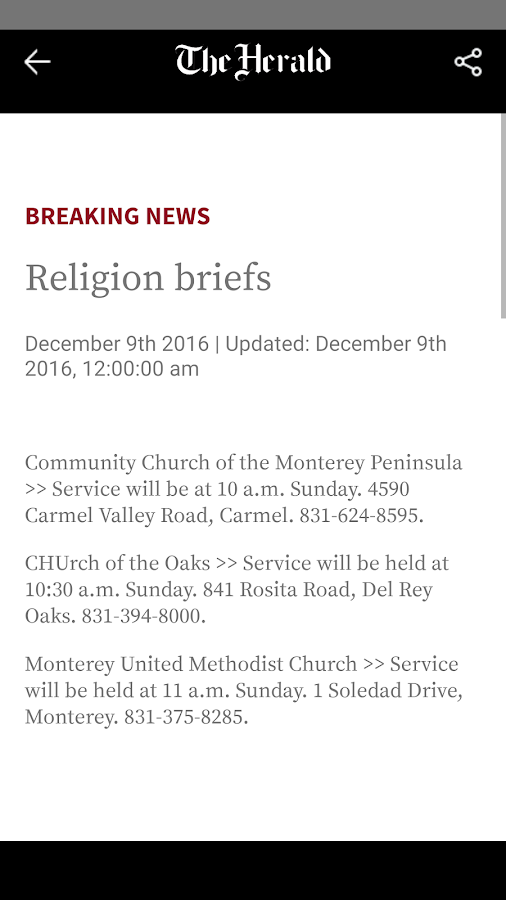 Monterey County Herald- screenshot