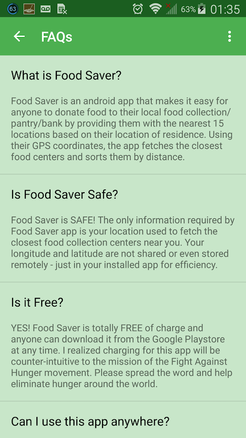 Food Saver- screenshot