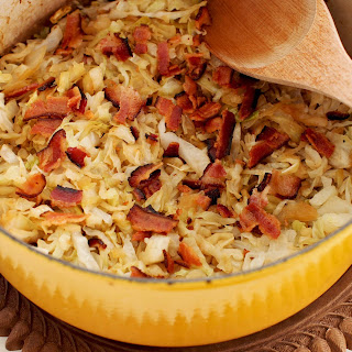 SIMPLE BEER-BRAISED CABBAGE WITH BACON