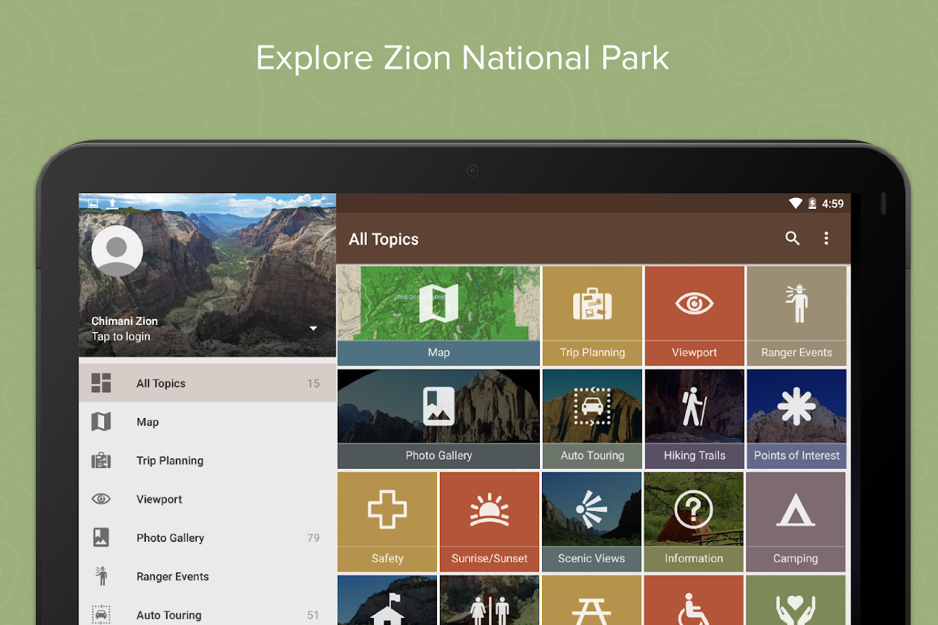 Zion National Park by Chimani- screenshot