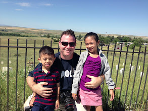 Photo: Learning history at Custer's Last Stand. — at Little Bighorn Battlefield National Monument.