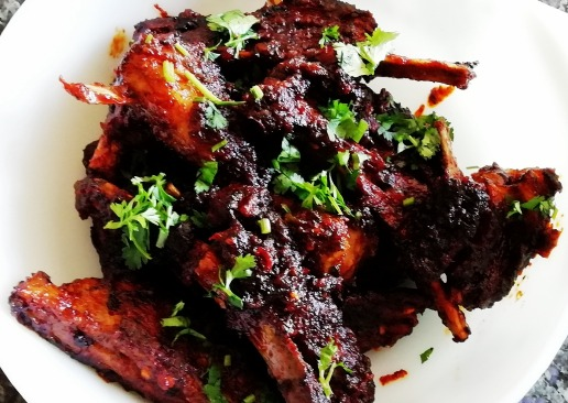 Mitesh Vallabh's sticky spicy ribs