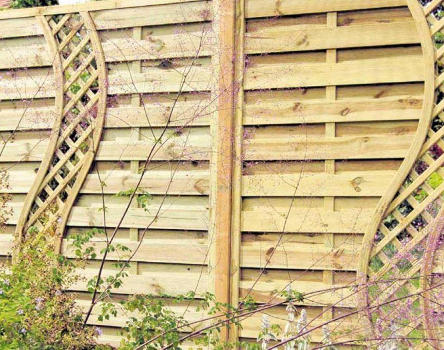 Horizontal Wood Fence Ideas