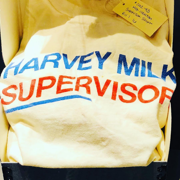 Artifacts from Harvey Milk's campaign for city supervisor.