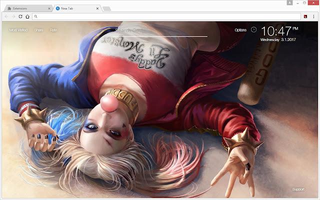 Harley Quinn Wallpaper Newtab Freeaddon Com