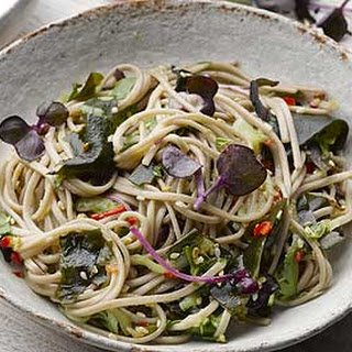 Soba Noodles With Wakame.