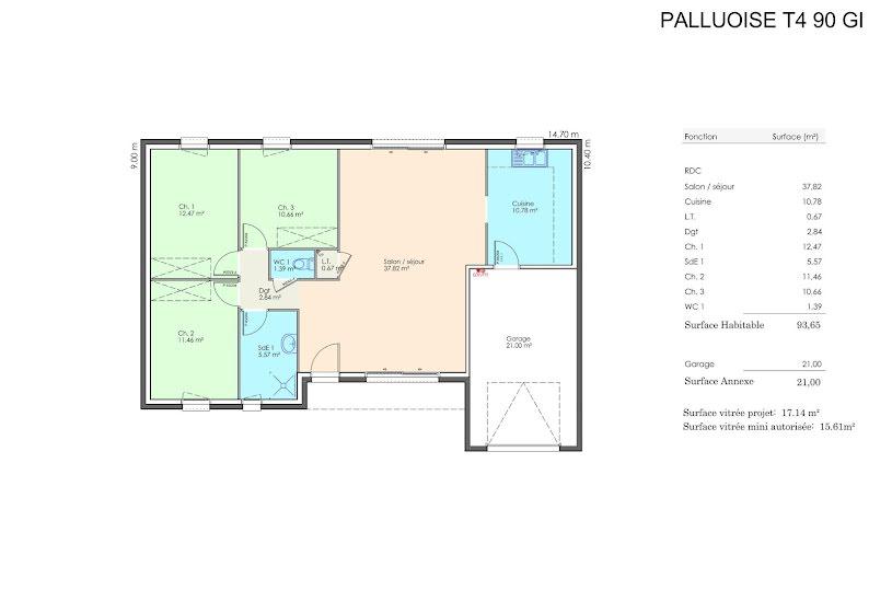 Vente Terrain + Maison - Terrain : 444m² - Maison : 80m² à Saint-Révérend (85220)