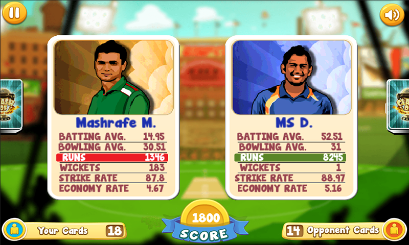 Clash of Cricket Cards- screenshot