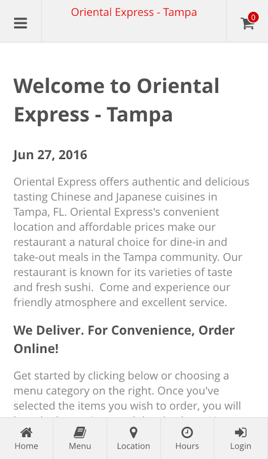 Oriental Express - Tampa- screenshot