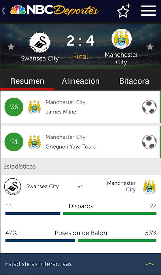 NBC Deportes- screenshot