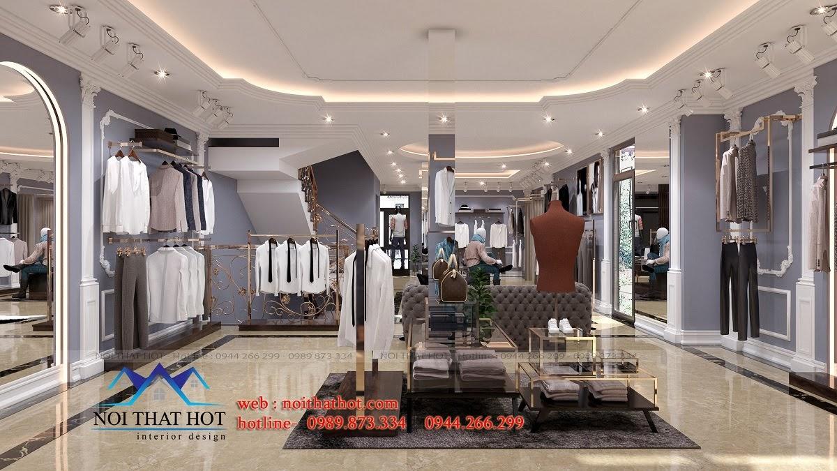 thiết kế shop thời trang sang trọng 8