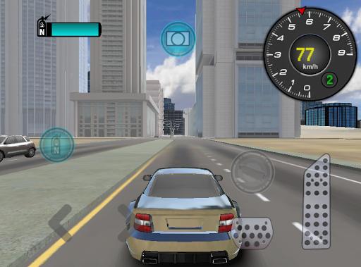 高級車の運転 3D