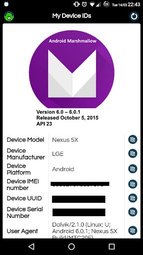 my device ids screenshot 1