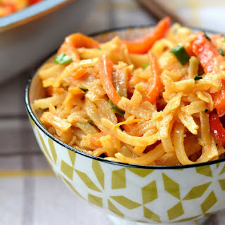 Spicy Thai Peanut Noodles.