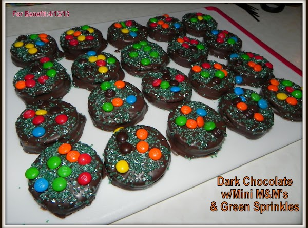 Melt down your candy chocolate in a double boiler pan or in microwave. Get...