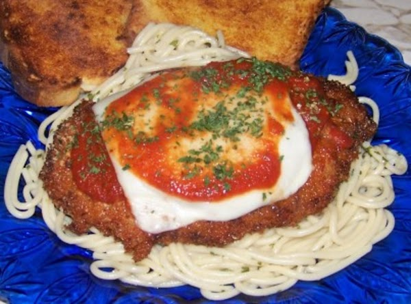 Cube Steak Parmesan Over Spaghetti Recipe