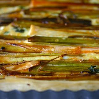 Chorizo-Leek Phyllo Tart Recipe