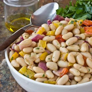 White Bean & Roasted Vegetable Salad.