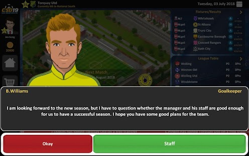 Club Soccer Director 2019 - Soccer Club Management Screenshot