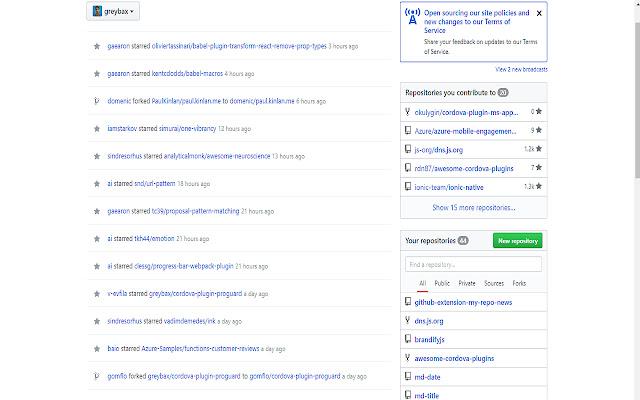 My Git Repo News