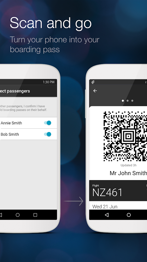 Air New Zealand has an Android app that works with most Android tablets, phones, and some Android Wear devices. Perhaps standard practice these days, the Android app offers the same functionality as the iOS app from Air New Zealand.