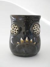 "Photo: Mug 3 * Bug eyes * 4"" tall. *  Holds ~ 1.25 cups"