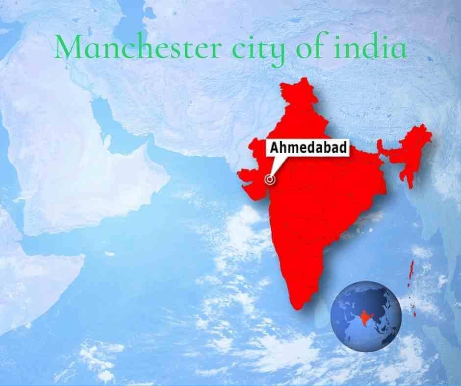 Location of Ahmedabad